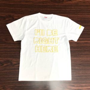 Tシャツ RIGHT HERE (黄・M)