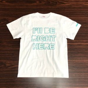 Tシャツ RIGHT HERE (青・S)