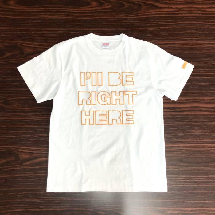 Tシャツ RIGHT HERE (オレンジ・XL)