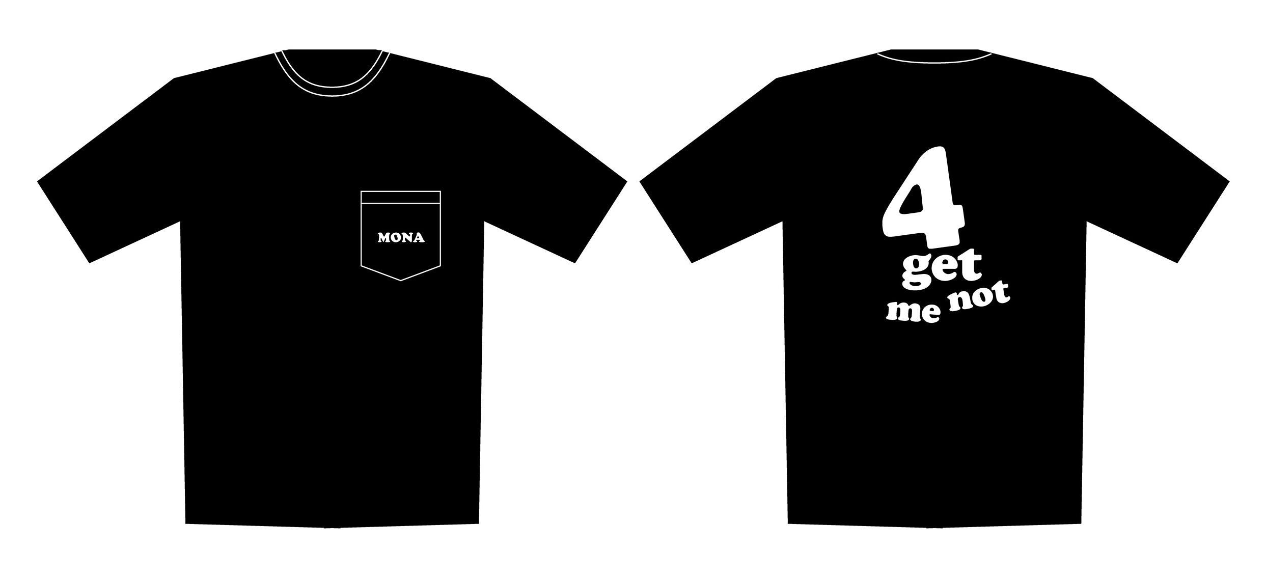 4周年ポケットTシャツ 黒・サイズXL