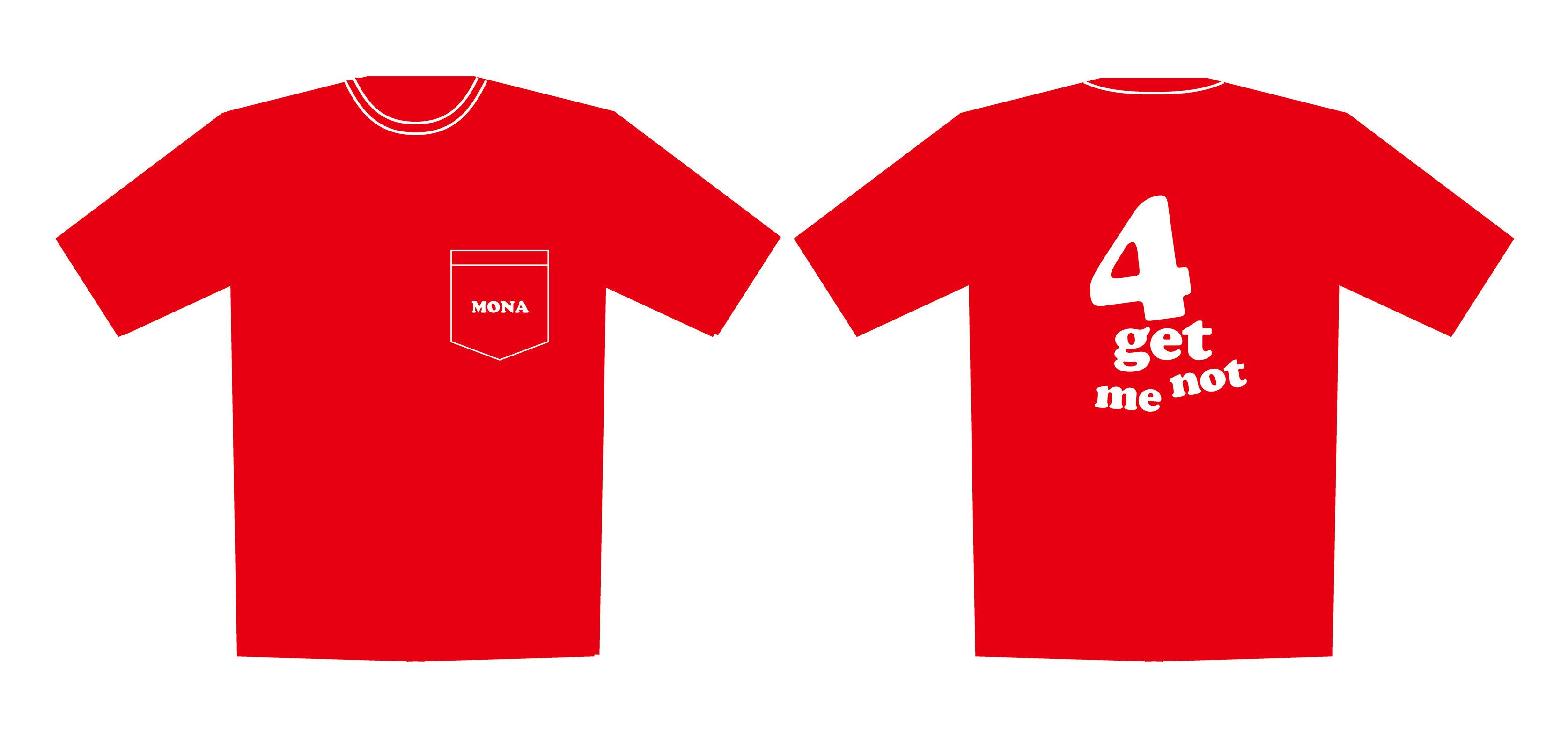 モナパ限定色 4周年ポケットTシャツ 赤・サイズXL