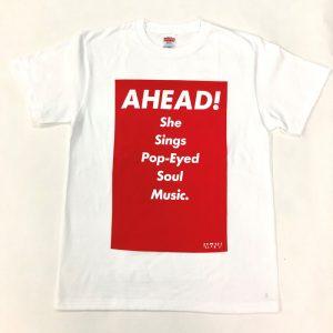 Tシャツ AHEAD!(赤・M)