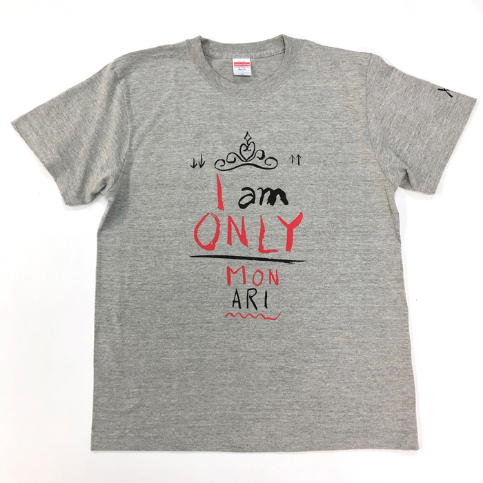 Tシャツ I AM ONLY(グレー・M)
